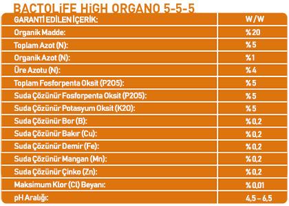 BACTOLIFE HIGH ORGANO 5-5-5