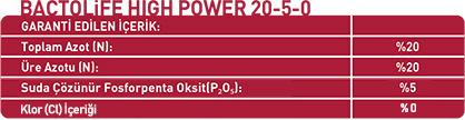 BACTOLIFE HIGH POWER 20-5-0