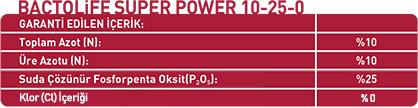 BACTOLIFE SUPER POWER 10-25-0