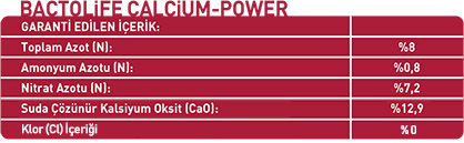 BACTOLIFE CALCIUM POWER 8-0-0