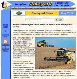 Stackyard-Rhizobacteria Shows Major UK Wheat Productivity Gains